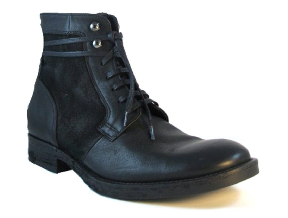 Doucal's  Men's Italian Leather/Suede Boots1093/1,Black