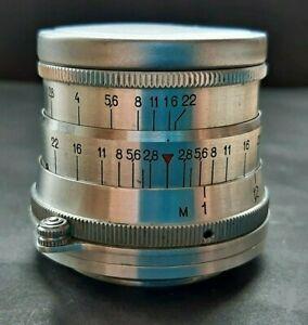 Rare Lens Industar I-26m 2.8 / 52 USSR For Macro Shooting On SLR vintage Cameras