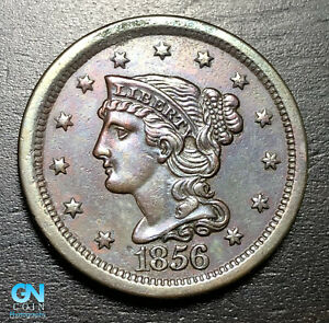 1856-Braided-Hair-Large-Cent-MAKE-US-AN-OFFER-B6010