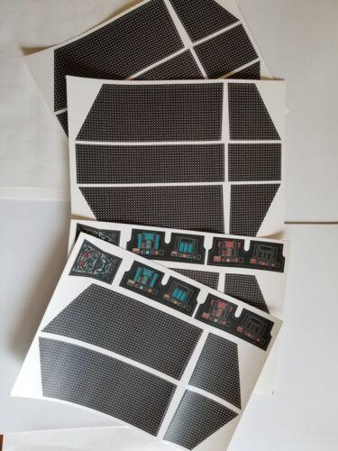 Vintage Star Wars Darth Vader/'s Tie-Fighter Replacement Sticker Peel /& Stick