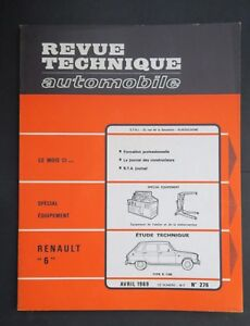 REVUE-TECHNIQUE-AUTOMOBILE-RTA-RENAULT-6-n-276