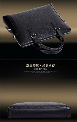 Crocodile Leather Men/'s Handbag Business Briefcase Shoulder Bag Clutch wallet
