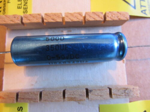 350uF 0-50VDC SPRAGUE 500D USA Axial Capacitor New Old Stock Quantity 1 Piece