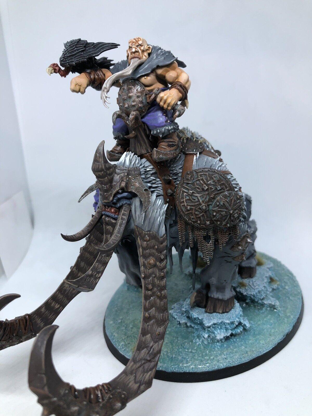 Warhammer Age of Sigmar Ogre Kingdoms Beastclaw Huskard on Thundertusk Painted