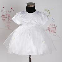 Neu Tauffeier Blumenmädchen Kleid in Hot Pink,weiß,Lila,Rot 3-18 Monate