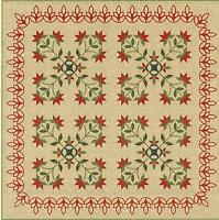 Poinsettia Patch Quilt Pattern By Edyta Sitar Of Laundry Basket Quilts