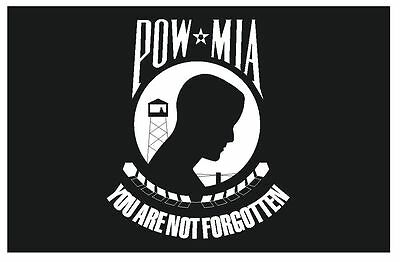 POW Prisoner of War Vinyl Flag DECAL Sticker MADE IN THE USA F391