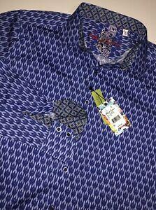 AUTH  $198 Robert Graham Men Long Sleeve Shirt M