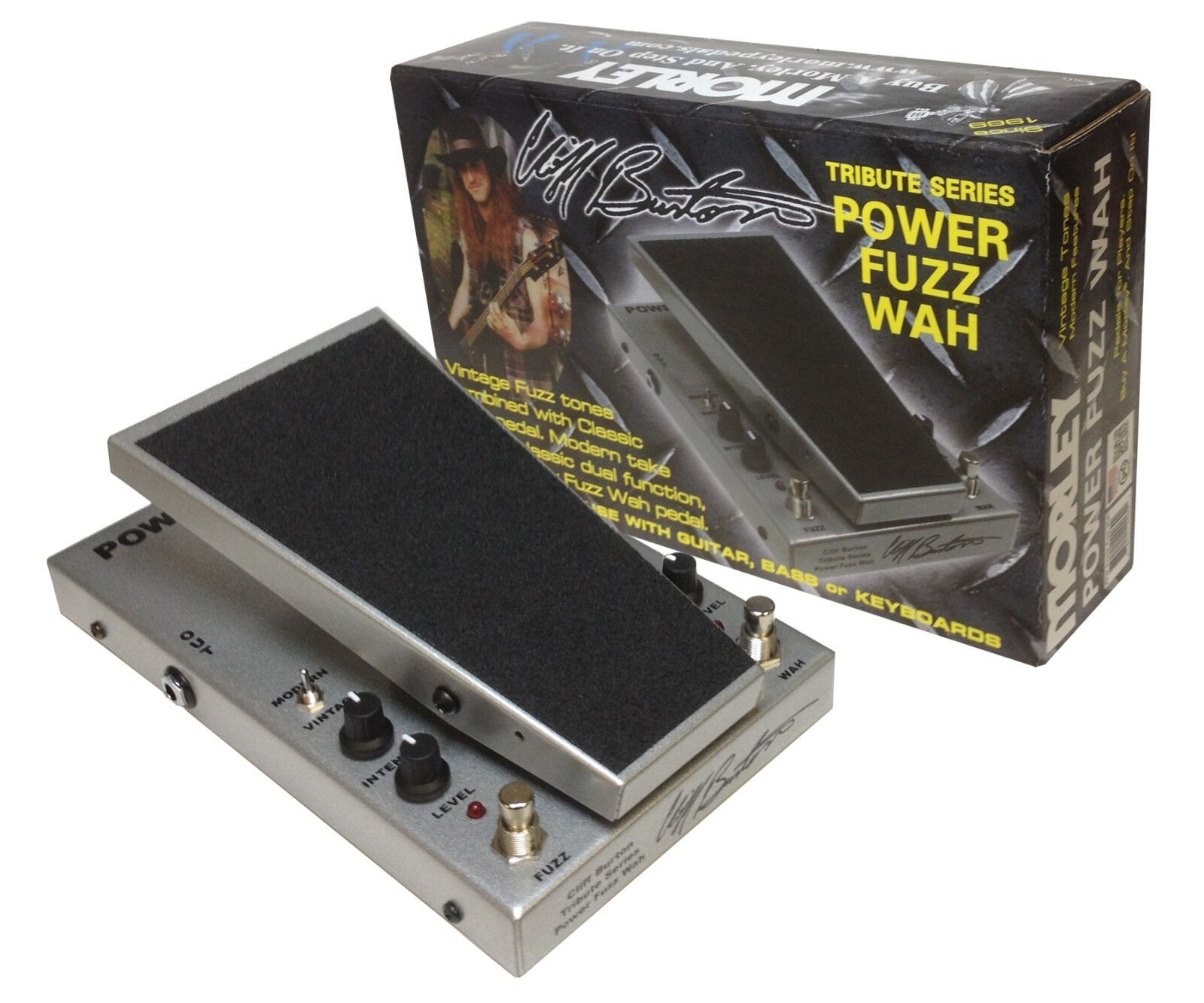 Morley Cliff Burton Tribute Series M2 Power Fuzz Wah Pedal Metallica PFW