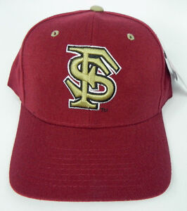 FLORIDA-STATE-ST-SEMINOLES-MAROON-NCAA-VINTAGE-FITTED-ZEPHYR-DH-CAP-HAT-NWT