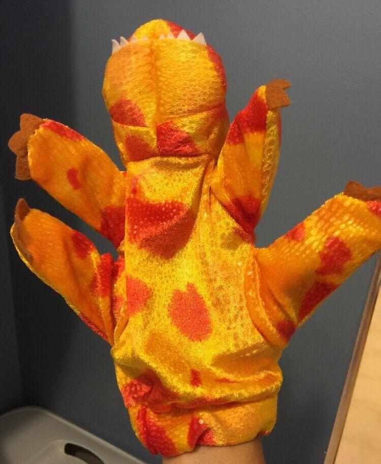 CALTOY Stage Hand Hand Stage Puppet Dinosaur Plush Toy 90b866