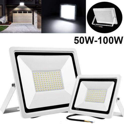 LED Fluter 50W 100W Strahler Scheinwerfer Außenleuchte Garten IP67 Ultradünn Neu