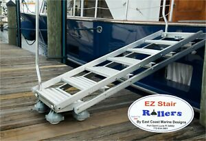 EZ-Stair-Rollers-Fits-Marquipt-Boarding-Ladder-Sea-Stair-Casters-Set-of-4