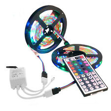 2x5M 3528 SMD RGB 600 LED Strip light string tape+44 Key IR remote control