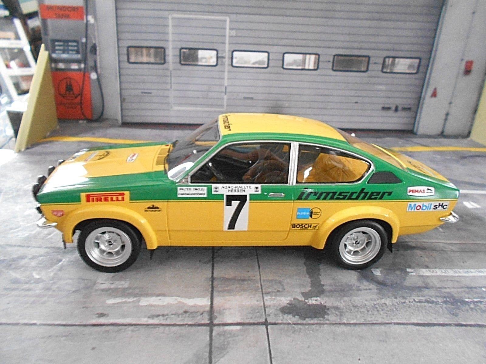 OPEL C Kadett GT E Rallye Hessen Rallye DRM 1975 Smolej Irmscher Bos 1 18