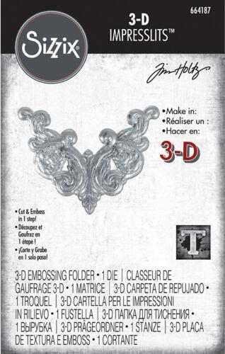 Sizzix Tim Holtz Alterations 3D Impresslits Embossing Folder Fanciful 664187