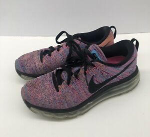 de97483f6c8d Nike Flyknit Max Running Shoes Concord Gamma Blue Pink 620659 Womens ...