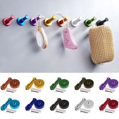 Towel Wall Hook Kitchen Bathroom Door Key Clothes Bag Hat DIY Hanger Rack Holder