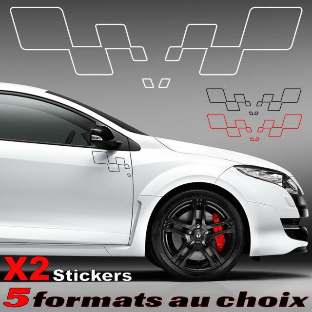 Renault Sport X2 stickers latéral gauche et droit carrosserie decal 13 coloris