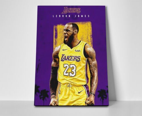 Lebron James Lakers Team Poster or Canvas