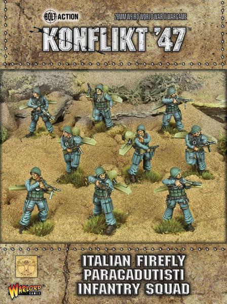 ITALIAN FIREFLY PARACADUTISTI - KONFLIKT 47 - WARLORD GAMES - SENT 1ST CLASS