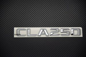 Chrome Letters Number Trunk Rear Emblem Badge for Mercedes Benz CLA-CLASS CLA250