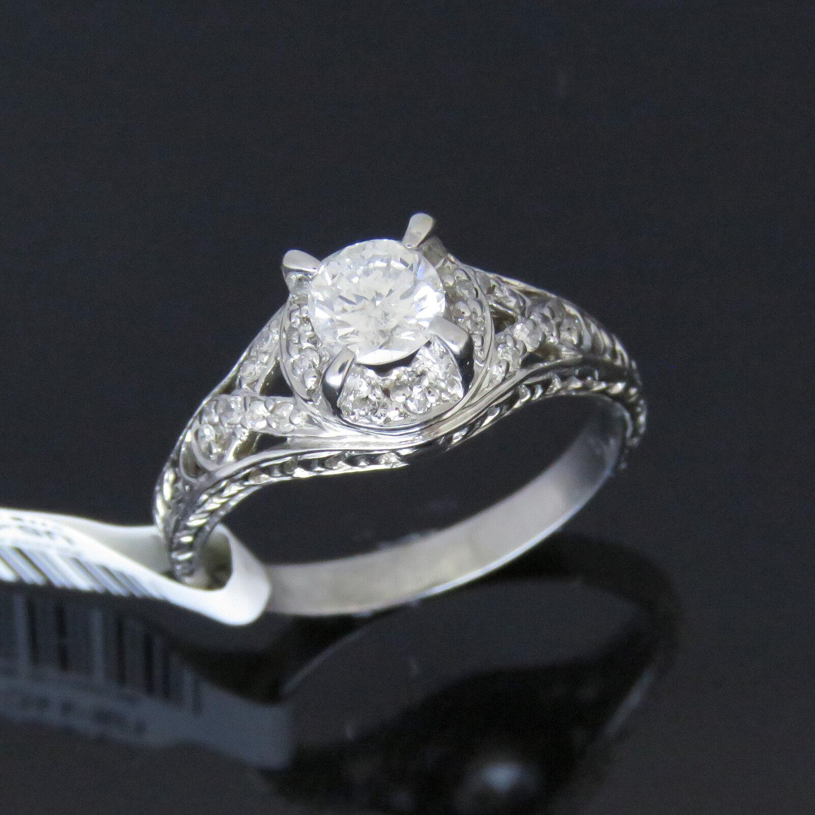 NYJEWEL 18k Solid gold Brand New Filigree 1ct Diamonds Engagement Ring