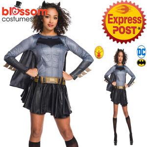 CA1225-Classic-Batgirl-Superhero-Batman-Hero-Book-Week-DC-Comics-Womens-Costume