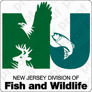 sticker gov new jersey fish and game ebay