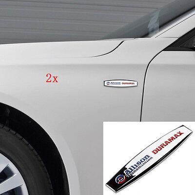 2pcs OEM ALLISON DURAMAX EMBLEMS for GM 2015 SILVERADO 2500HD 3500HD Black u FU