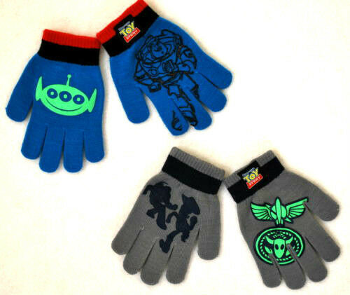 Disney TOY STORY BUZZ 2-pair Boys Winter Gloves ~ NWT