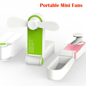 Summer-Rechargeable-Portable-Mini-Fan-Handheld-Personal-USB-Battery-Pink-Green