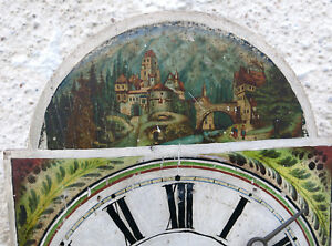 Black Forest,horloge Pendule Foret Noire, Horloge Black Forest, Montagne,chateau ArôMe Parfumé