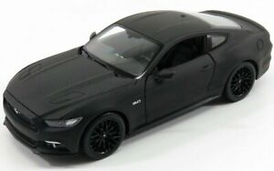 WELLY 1/24 FORD USA | MUSTANG COUPE 5.0 GT 2015 | MATT BLACK