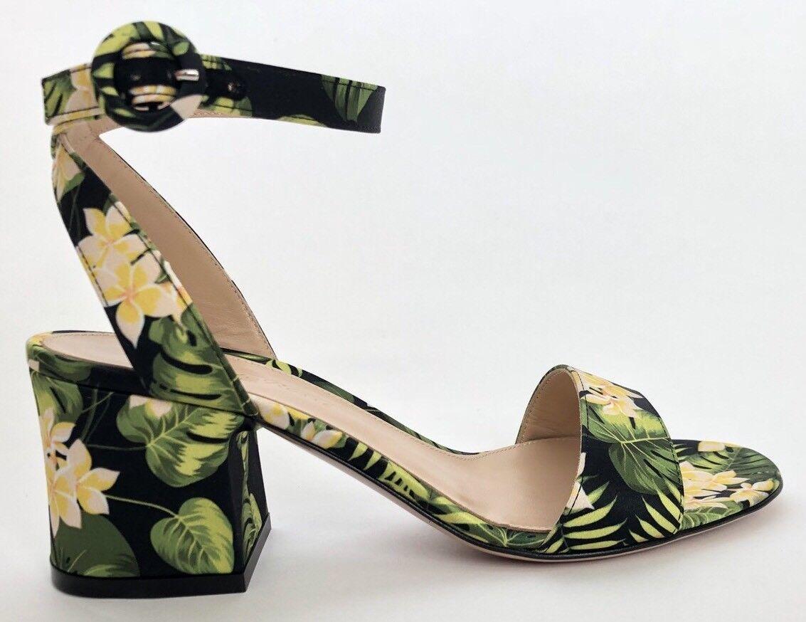 Gianvito Rossi Donna Shoes Floral Size 38.5 NIB Sandals Floral Shoes e0c384