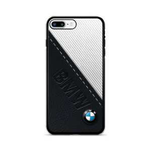 wholesale dealer ad1b1 b1091 Details about BMW Black White Leather iPhone 6 7 8 + X XR XS MAX Hard  Plastic Case Cover