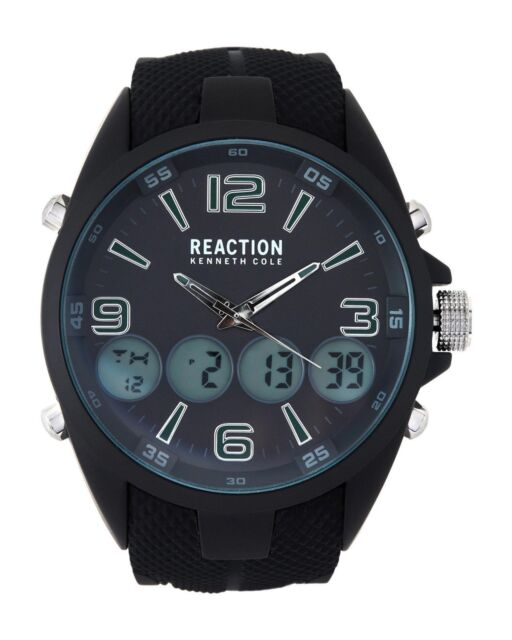 a41056e02e6 Reaction kenneth cole black silicone dual time analog digital watch jpg  512x640 Reaction kenneth cole watches