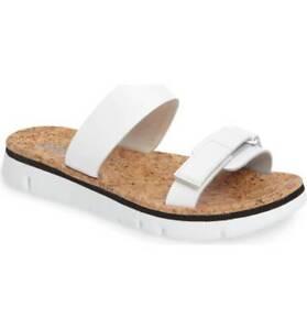 8dfda06fee4 Camper Oruga White Slip On Cork Platform Double Strap Slide Sandals ...