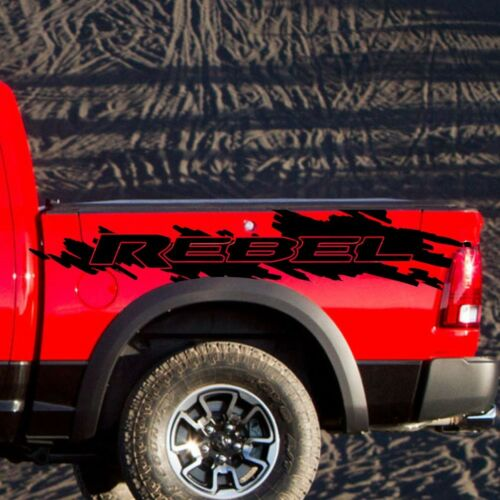 Dodge Ram Rebel Splash Grunge Logo Truck Vinyl Decal Graphic Reflective Camo