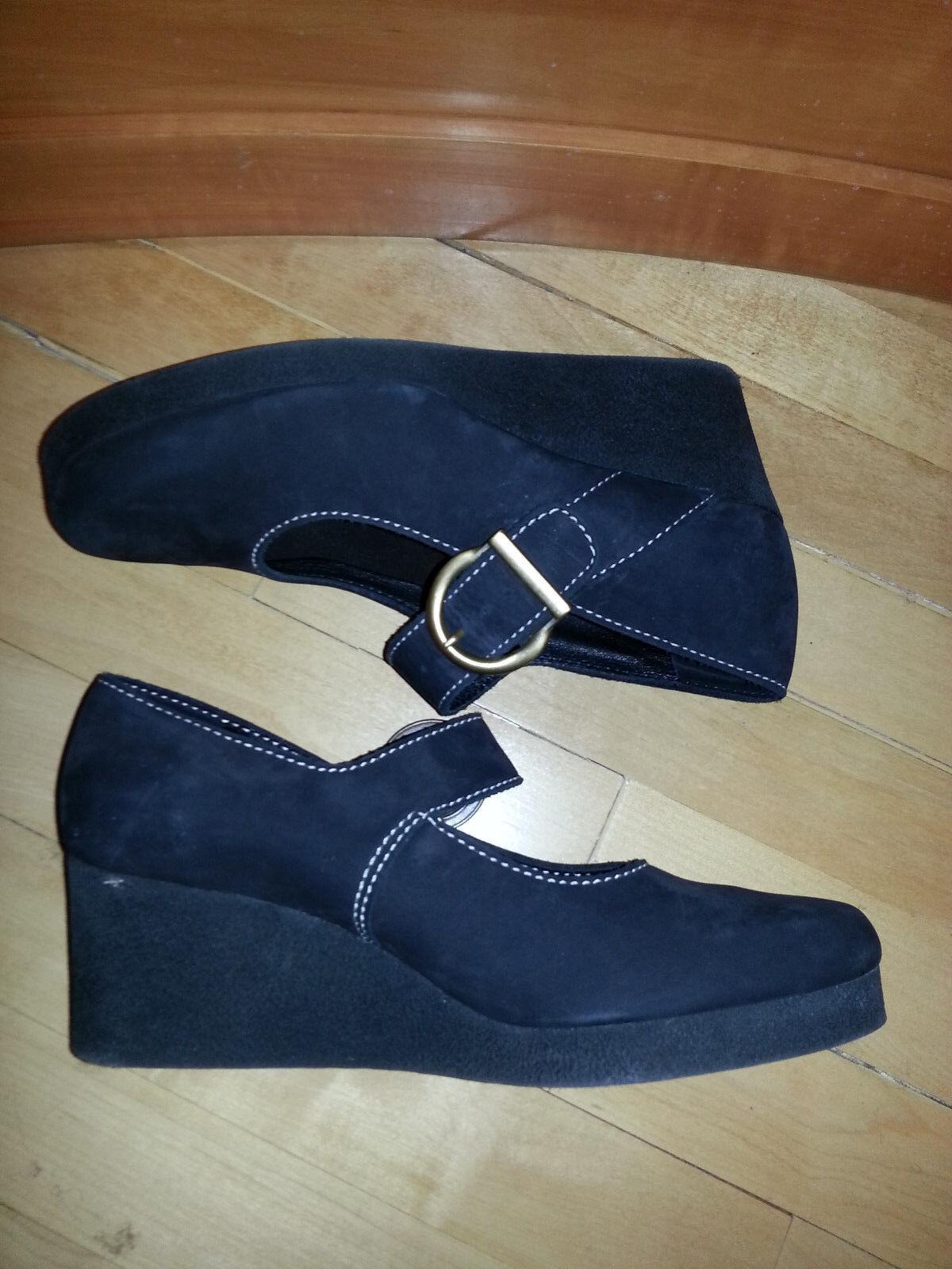 sconto online di vendita New  ARCHE LN LN LN nero Nubuck scarpe with Chunky Wedge and Buckle Strap, 41  autorizzazione