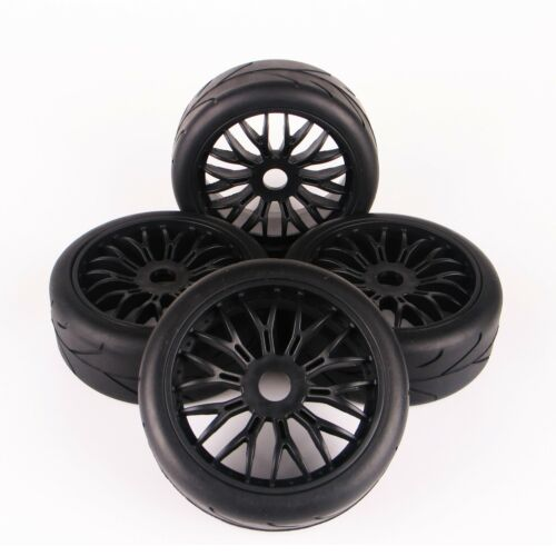 RC 4PCS On-Road Tyres Tires/&Wheel Rim 17mm Hex For HPI HSP Traxxas 1:8 Buggy Car