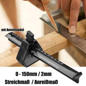 Streichmass-200mm-Stellmass-Anschlaglineal-Anreissmass-Anreisswerkzeug-Tischlerwerkze