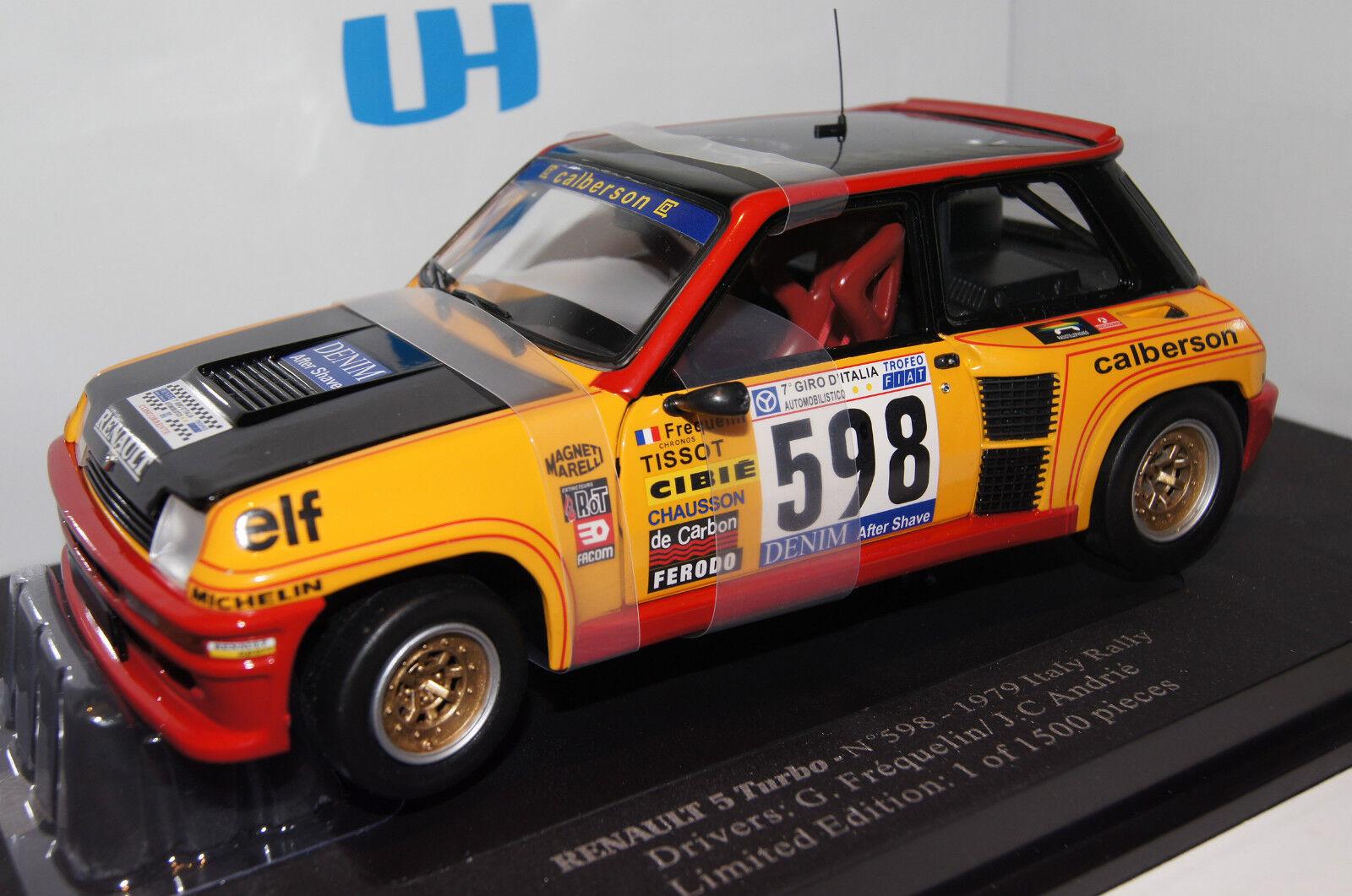 RENAULT 5 Turbo Rally Italia 1979 #598 1:18 UH NUOVO & OVP 4552