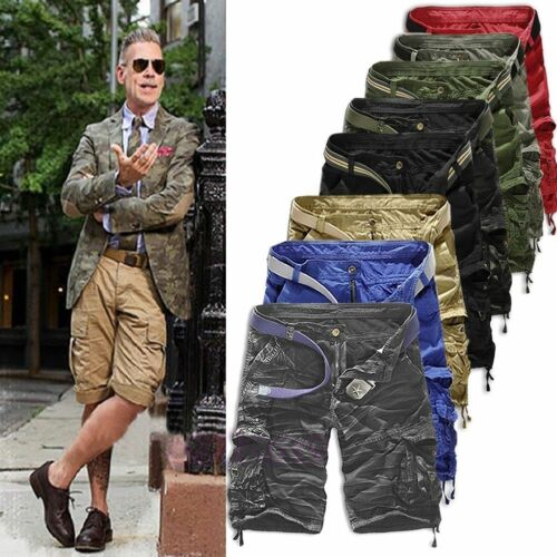 Half Jeans Mens Army Combat Shorts Camouflage Cargo Casual Workout Short Pants