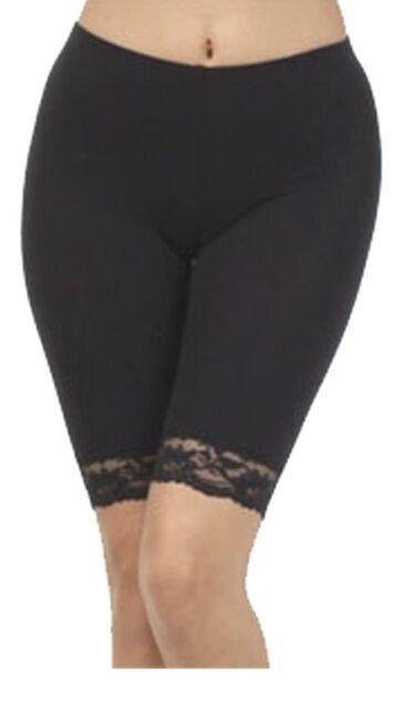 Womens Floral Lace SHORTS Cotton Leggings UK Sizes 8-28