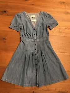 a914fd26240 Image is loading Authentic-MADEWELL-Denim-Daylily-Dress-Size-0-Annetta-