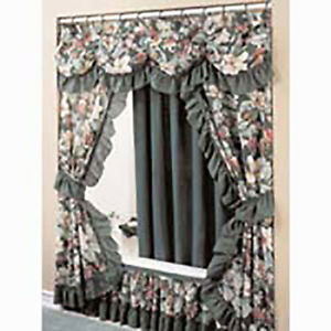 Fabric Shower Curtain And Bath Accessories