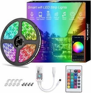 16-4ft-Smart-WiFi-RGB-IP65-LED-Light-Strip-for-Alexa-Google-Home-NO-ADAPTER