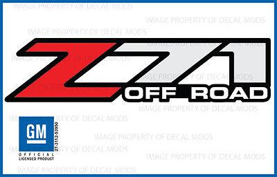 set of 2 - Z71 Offroad 01-06 sticker decal Parts Chevy Silverado GMC Sierra 4x4