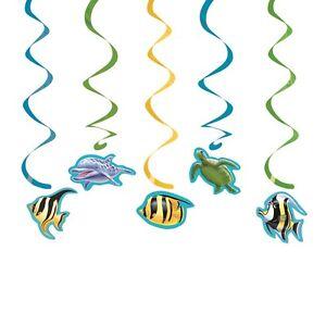 Oceano-Delfin-TORTUGA-COLGANTE-PEZ-decoraciones-de-remolino-1-25pk